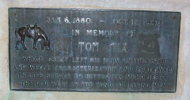 Tom Mix Monument Inscription