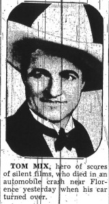 Tom Mix Newspaper Portrait