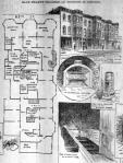 Murder Castle floor plan, crematory, stove and closet trap door.