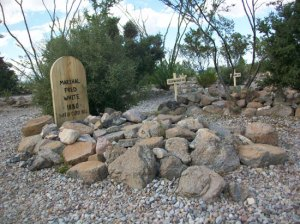 Boothill-- Marshall Fred White's grave