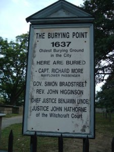 Burying Point Sign