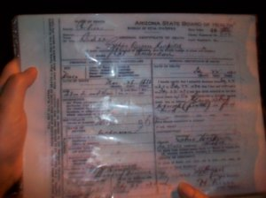 Nat Anderson Death Certificate