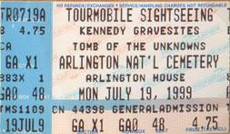 Arlington Admission Ticket