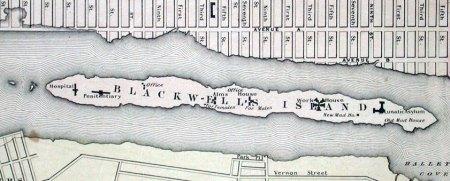 Map of Blackwell Island