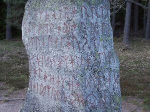 The Björketorp Runestone inscription. Photo by Henrik Reinholdson.
