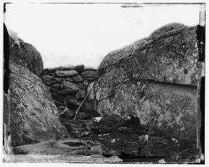 Gettysburg, PA Dead Confederate Soldier in Devil's Den