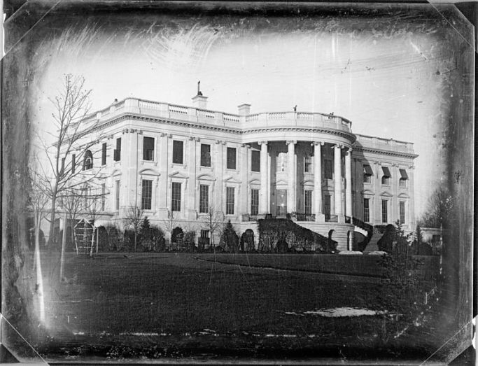 1846 daguerrotype of the White House (courtesy Wikimedia Commons and the Library of Congress)