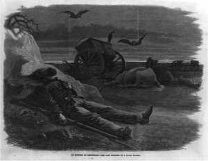 An incident of Gettysburg - the last thought of a dying father