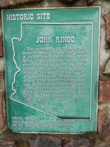 John Ringo Historic Site Monument